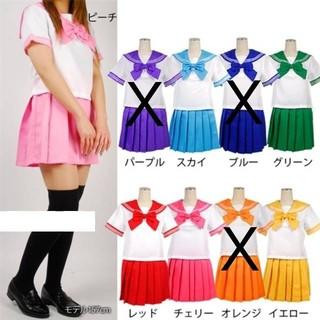 ハロウィン コスプレ コスチューム 制服 学生服 セーラー服 女子高生 JK(ミディアムドレス)