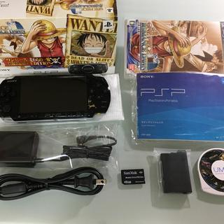プレイステーションポータブル(PlayStation Portable)の美品 PSP-3000 ワンピースモデル(携帯用ゲーム本体)