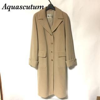 アクアスキュータム(AQUA SCUTUM)のアクアスキュータム Aquascutum カシミヤ混ウールロングチェスターコート(チェスターコート)