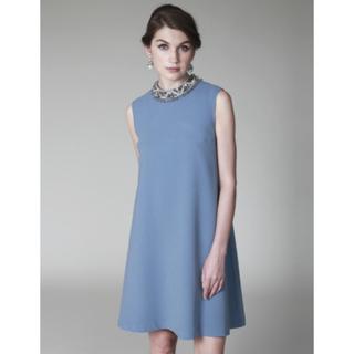 グレースコンチネンタル(GRACE CONTINENTAL)の新品美品 グレースコンチネンタル ワンピ ブルー 38(ミディアムドレス)