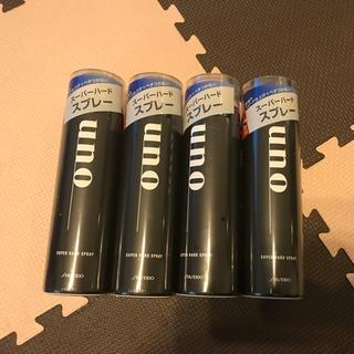 ウーノ(UNO)のウーノ スーパーハードスプレー4本セット 値下げ(ヘアスプレー)