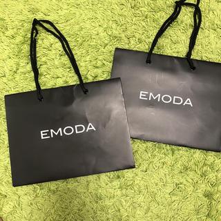 エモダ(EMODA)のエモダEMODA★ショップ袋 紙袋 ショッパー 2つまとめ売り(ショップ袋)