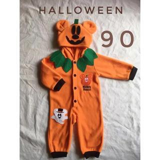 Disney - ハロウィン ディズニー ロンパース 90 ミッキー 美品 即日発送