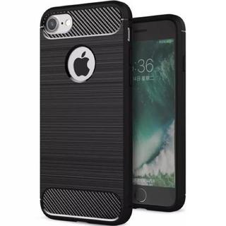 大人気! iPhone7 iPhone8 ケース  ブラック カーボンファイバー(iPhoneケース)