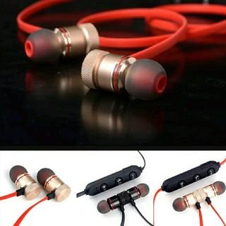 マグネット付き Bluetooth対応 ワイヤレス イヤホン カラー/レッド(ヘッドフォン/イヤフォン)