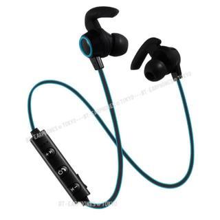 ★ブルー Bluetooth ワイヤレス スポーツ イヤホン(ヘッドフォン/イヤフォン)