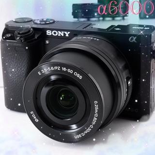 ソニー(SONY)の☘️Wi-Fi搭載ソニー α6000☘️フルHD動画☘️電動パンケーキレンズ☘️(ミラーレス一眼)