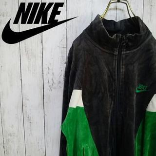 NIKE - [90s]ナイキ ベロア素材 トラックジャケット スウォッシュロゴ
