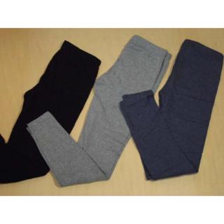 訳あり!(間物)春秋薄手のスパッツ.130~150cmぐらい グレー紺黒    (パンツ/スパッツ)