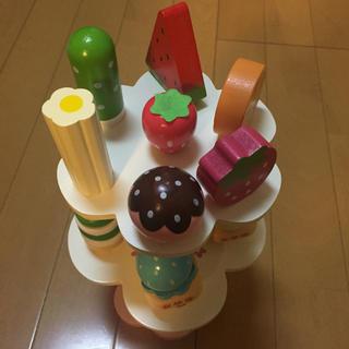 マザーガーデン ママゴト ケーキ セット 野いちご ままごと 木製