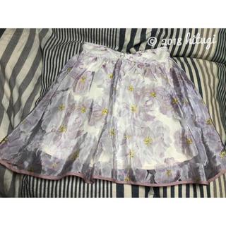アイズビット(ISBIT)のISBIT スカート 花柄(ミニスカート)