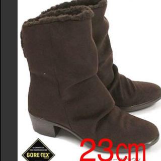 アサヒシューズ(アサヒシューズ)の茶色 23㎝ 定価16200円 トップドライ ゴアテックスブーツ  即購入⭕️ (ブーツ)