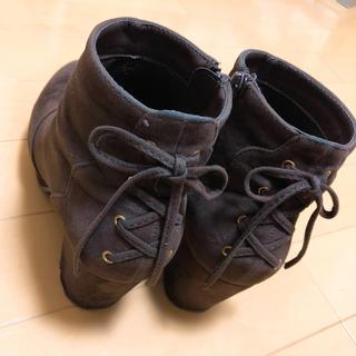 マジェスティックレゴン(MAJESTIC LEGON)の♡マジェスティックレゴン スカラップ レースアップ ブーツ 茶色♡(ブーツ)