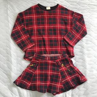 ザラ(ZARA)のZARA ザラ セットアップ チェック スカート 116cm(その他)