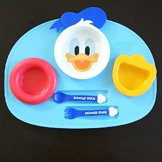 ディズニー(Disney)の【ベビー食器】離乳食プレート☆ディズニー(ドナルド)(離乳食器セット)