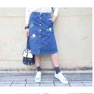 Chesty - 美品 刺繍デニムスカート インディゴ size0 グレースコンチネンタル好きにも