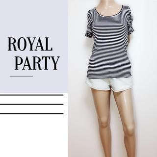ROYAL PARTY - ROYAL PARTY ▶︎ショルダーギャザー カットソー♡DURAS ザラ