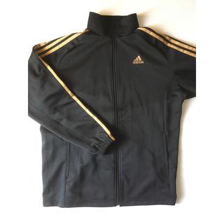 アディダス(adidas)のadidasジャージジャケット Mブラックゴールド(ジャージ)