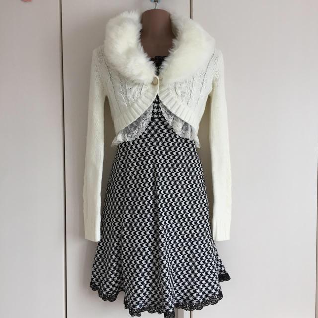 LIZ LISA(リズリサ)の予約品♪着用2回の美品♪リズリサ♪ファーティペット付き♪ニットボレロ レディースのトップス(ボレロ)の商品写真