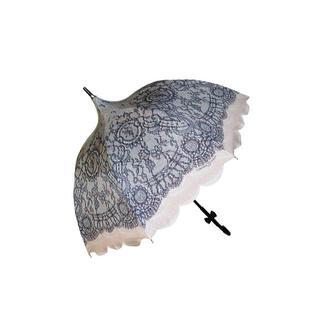 シャンタルトーマス(Chantal Thomass)のChantal Thomass 傘 ピンク×ブラックレース柄 CT772(傘)