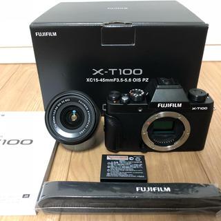 富士フイルム - ★ほぼ未使用★FUJIFILM 富士フイルム X-T100 保証、おまけ付き♪