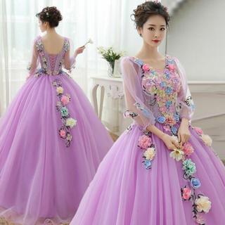 ラプンツェル風 ウエディング ドレス カラー カクテル