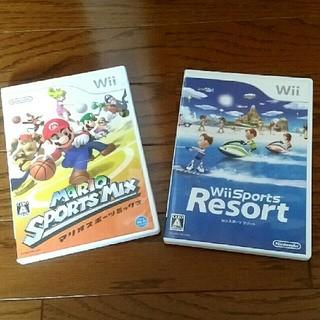 ウィー(Wii)のWiiマリオスポーツミックス   Wiiスポーツリゾート(家庭用ゲームソフト)