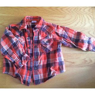 リトルベアークラブ(LITTLE BEAR CLUB)の秋色ネルシャツ 80(シャツ/カットソー)