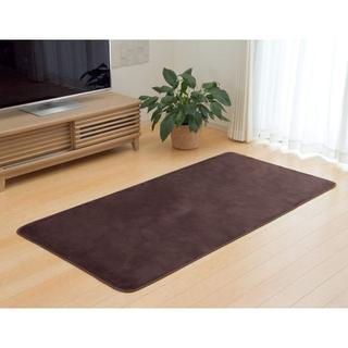 抗菌防臭 洗える カーペット 1畳約92×185cm ブラウン ホットカーペット
