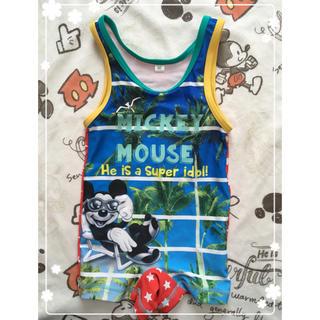 Disney - ベビー用 ロンパース水着  ミッキーマウス 80センチ