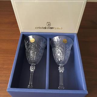 クリスタルダルク(Cristal D'Arques)の未使用!cristal dargesクリスタルダルク/ワイングラス2セット(グラス/カップ)