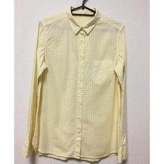 ムジルシリョウヒン(MUJI (無印良品))の洗いざらしイエローチェックシャツ(シャツ/ブラウス(長袖/七分))