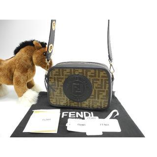 フェンディ(FENDI)のフェンディ キャム ズッカ 黒 ポシェットバッグ カメラバッグ 新品@ 1(ショルダーバッグ)