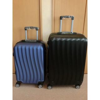 新品★MとSの2点セット★黒とネイビー★スーツケース★キャリーケース(トラベルバッグ/スーツケース)