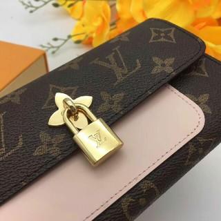 LOUIS VUITTON - ルイヴィトン レディース長財布 ブラウン&ピンク 携帯/札入れ 大容量