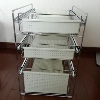 ベルメゾン(ベルメゾン)のシンク下スライド収納3段(キッチン収納)