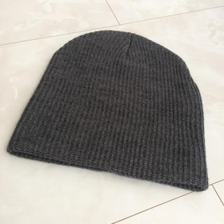 アングリッド(Ungrid)のUngrid リブ編みニット帽 グレー(ニット帽/ビーニー)