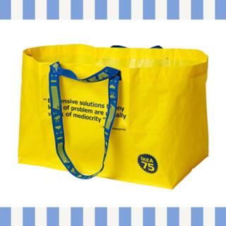 イケア(IKEA)の★IKEA★75周年記念キャリーバッグ イエロー*ヴェルドスブラ(エコバッグ)