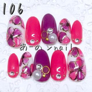 送料&カラー変更1色無料«106»ジェルネイルチップ♡*.(つけ爪/ネイルチップ)