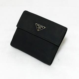 プラダ(PRADA)のPRADA プラダ 三つ折り財布 サイフ テスート×サフィアーノ ネロ ブラック(財布)