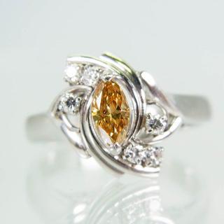 Pt900 ブラウンダイヤモンド リング 8号 [f289-2](リング(指輪))