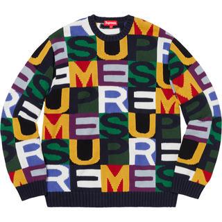 シュプリーム(Supreme)のXL Supreme Big Letters Sweater マルチカラー 新品(ニット/セーター)