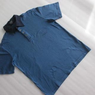 タブロイドニュース(tabloid news)のTabloid news 美品 ブルーボーダーポロシャツ(ポロシャツ)
