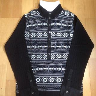 メンズビギ(MEN'S BIGI)の新品タグ付き☆ メンズビギノスタルジック柄 ニットシャツ(ニット/セーター)