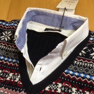 メンズビギ(MEN'S BIGI)の新品タグ付き☆ メンズビギ ニットシャツ(ニット/セーター)