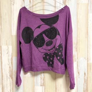 ディズニー(Disney)の【送料込み】アメリカ古着 ミッキー サングラス 長袖 Disney(Tシャツ(長袖/七分))