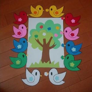ペープサート「小鳥のうた・赤いとり小鳥」(知育玩具)