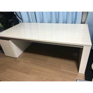 美品 高級ローテーブル デスク 引出し付き インテリア(ローテーブル)