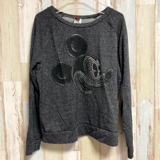 ディズニー(Disney)の【送料込み】アメリカ古着 ミッキー 長袖 Disney ディズニー ラメ(Tシャツ(長袖/七分))