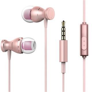 カナル型 イヤホン ピンク iPhone/Andorid対応(ヘッドフォン/イヤフォン)